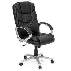 BestOffice Ergonomic Black Leather Chair