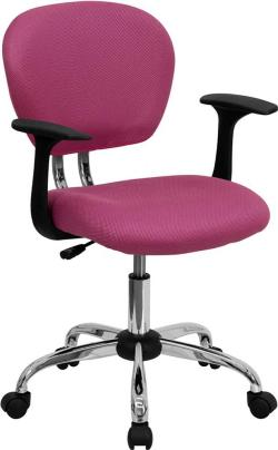 Flash Furniture Mid Back Pink Rolling Chair