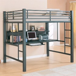 Coaster Home Furnishings Full Loft Bed with Desk