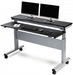 Crank Adjustable Metal Desk